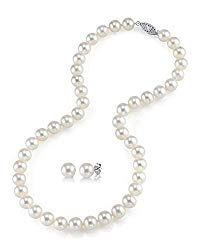 Freshwater Cultured Pearl Necklace Set for Women Includes Stud Earrings with 14K Gold in AAAA Quality – THE PEARL SOURCE