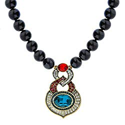 """Heidi Daus """"Petite Signature Accent Smooth Onyx Crystal Pave Drop Necklace"""