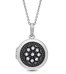 With You Lockets-Fine Sterling Silver-Custom Photo Locket Necklace-That Holds Pictures for Women-The Roxy