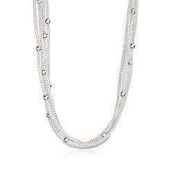 Ross-Simons Italian Sterling Silver 5-Strand Beaded Mesh Necklace