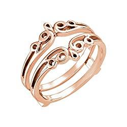 Bonyak Jewelry 14k Rose Gold Metal Ring Guard – Size 7