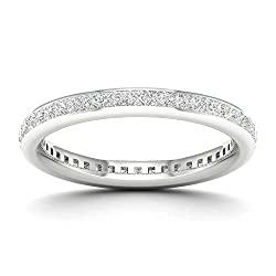 IGI Certified 14k Gold 3/4ct TDW Diamond Eternity Wedding Band (H-I, I2)