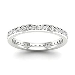 IGI Certified 14k Gold 3/4ct TDW Diamond Eternity Wedding Band (H-I, I2)