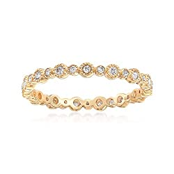 Ross-Simons 0.25 ct. t.w. Diamond Eternity Band in 14kt Yellow Gold