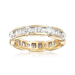 Ross-Simons 2.00 ct. t.w. Baguette and Round Diamond Eternity Band in 14kt Yellow Gold